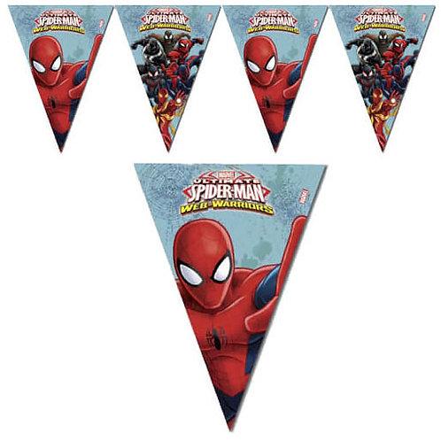 Örümcek Adam Spiderman İyi ki Doğdun Üçgen Flama