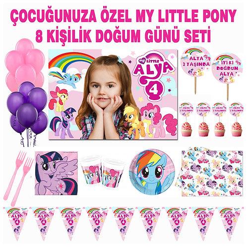 My Little Pony 8 Kişilik Doğum Günü Parti Seti