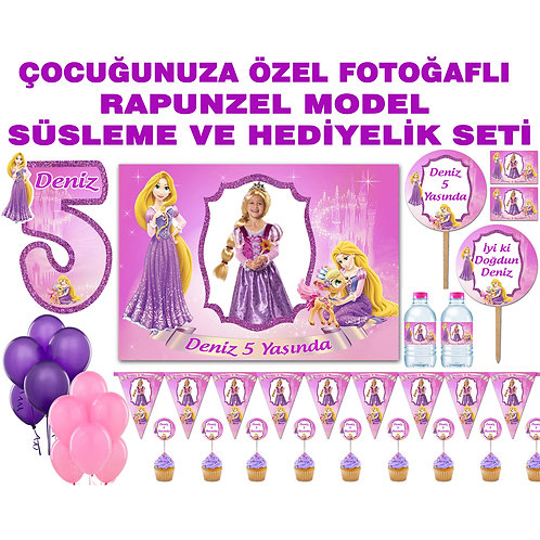 Rapunzel Doğum Günü Parti Seti