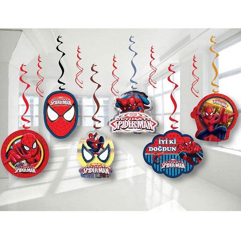 Örümcek Adam Spiderman Asma Süs 6'lı