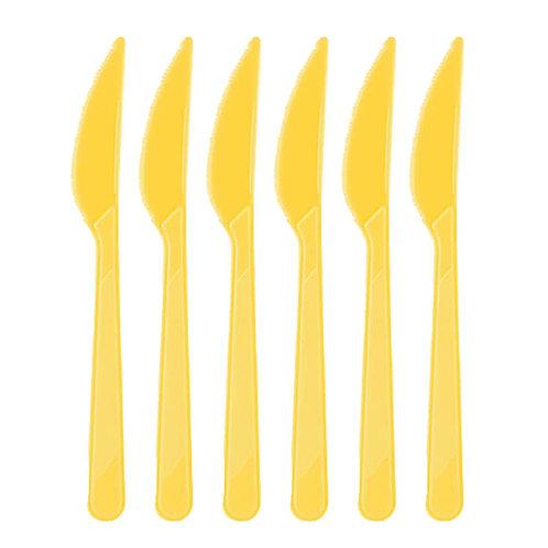Sarı Plastik Bıçak 25'li