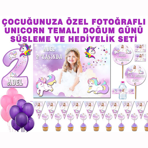 Unicorn Doğum Günü Parti Seti
