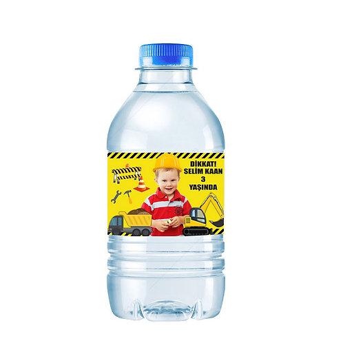 İnşaat Temalı Kişiye Özel Su ve Peçete Sargısı 10 Adet