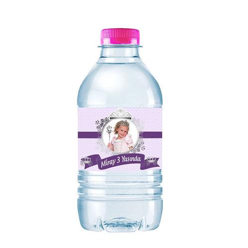 Prenses Mor Gümüş Kişiye Özel Su ve Peçete Sargısı 10 Adet
