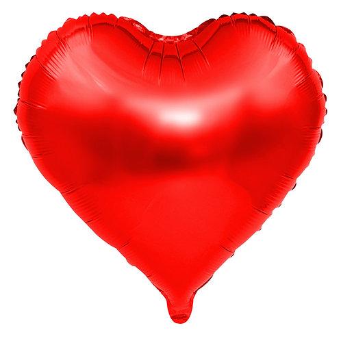 Kırmızı Kalp Folyo  Balon 1 Adet