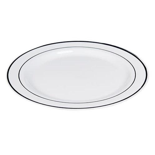 29 cm Gümüş Çizgili Melamin Tabak 6'lı