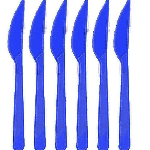 Lacivert Plastik Bıçak 25'li
