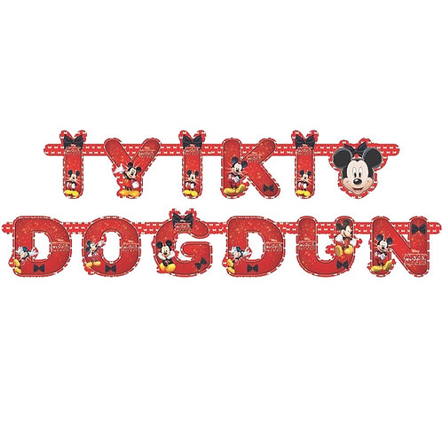 Mickey Mouse Kesimli İyi ki Doğdun Karton Hazır Yazı