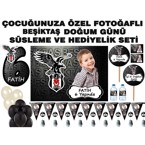 Beşiktaş Doğum Günü Parti Seti