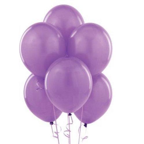 Lila Metalik Balon 10 Adet
