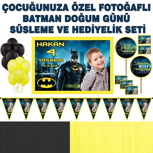 Batman Doğum Günü Dekorasyon Süsleme ve Hediyelik Seti