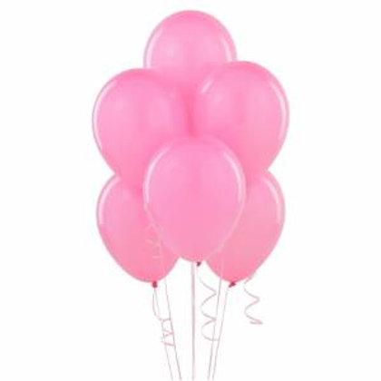 Pembe Metalik Balon 10 Adet