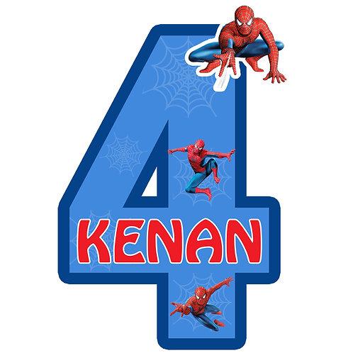 Örümcek Adam Spiderman Kişiye Özel Asma Süs