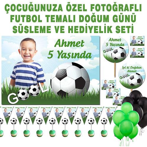 Futbol Gol Temalı Doğum Günü Balonlu Süsleme Seti