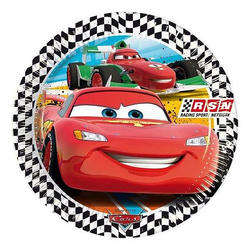 Şimşek Mcqueen Cars Arabalar Karton Tabak 8 Adet
