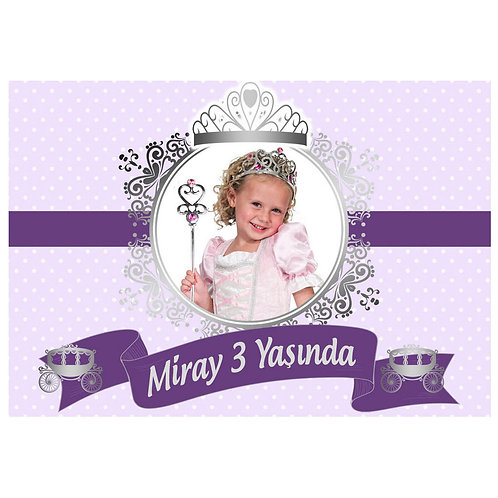 Prenses Mor Gümüş Magnet 5x7 cm 16 Adet