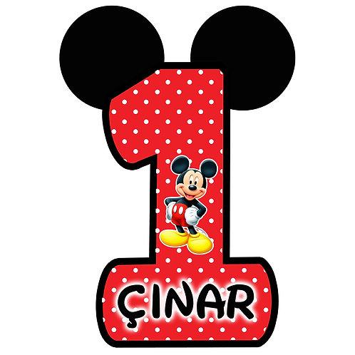 Micky Mouse Kişiye Özel Asma Süs