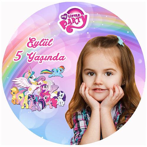 My Little Pony Kişiye Özel Yapışkanlı Sticker Etiket 5 cm