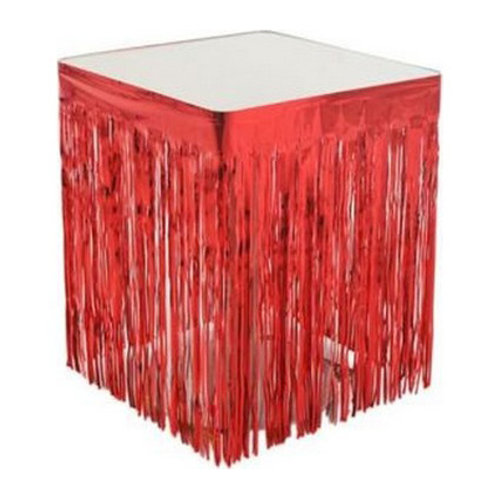 Kırmızı Püsküllü Masa Eteği