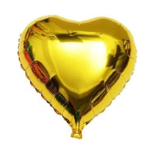 Altın Kalp Folyo  Balon 1 Adet