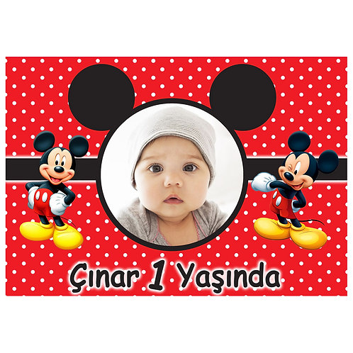 Micky Mouse Afiş 40x28 cm PVC Kaplı