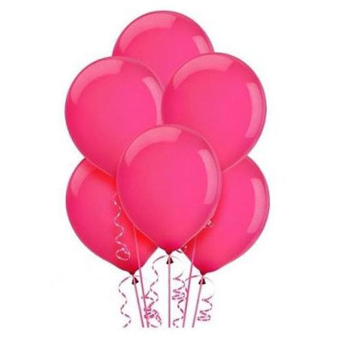 Koyu Pembe Metalik Balon 10 Adet