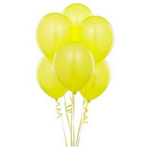 Sarı Metalik Balon 10 Adet