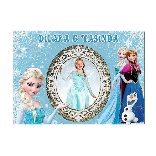 Karlar Ülkesi Elsa Frozen Afiş 50x70 cm