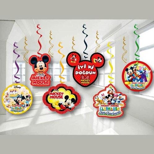 Mickey Mouse Asma Süs 6'lı