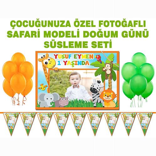 Safari Renkli Doğum Günü Süsleme Seti