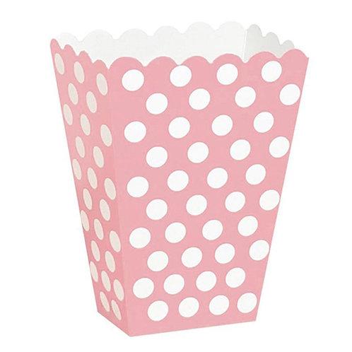 Popcorn Pembe Puantiyeli Mısır Kutusu 10'lu