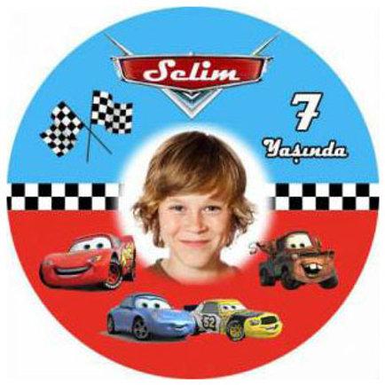 Şimşek Mcqueen Cars Arabalar Kişiye Özel Yapışkanlı Sticker Etiket 6 cm
