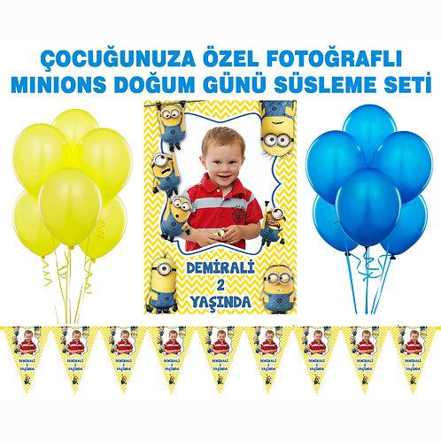 Minions Çılgın Hırsız Doğum Günü Süsleme Seti