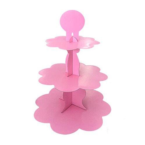 Pembe Kek Standı Cupcake Stand