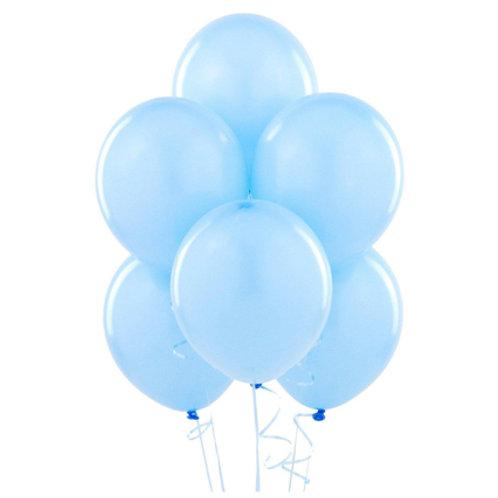 Mavi Metalik Balon 10 Adet