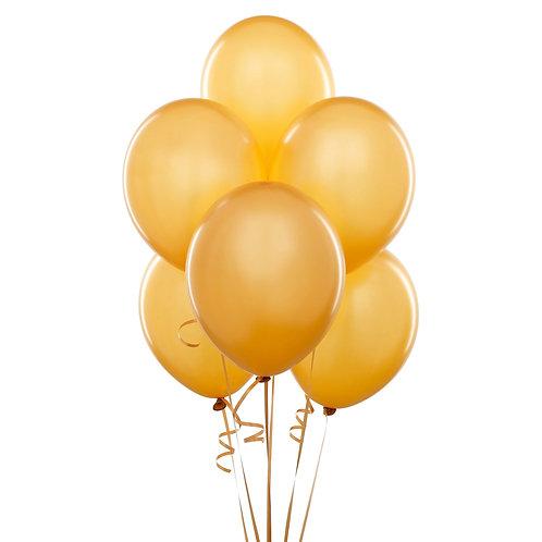 Altın Metalik Balon 10 Adet