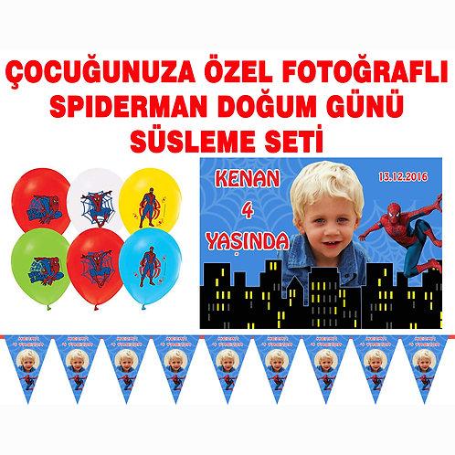 Spiderman Örümcek Adam Doğum Günü Süsleme Seti