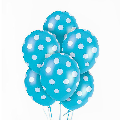 Mavi Puantiyeli Balon 10 Adet