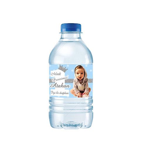1 Yaş Erkek Mavi Gümüş Kişiye Özel Su ve Peçete Sargısı 10 Adet