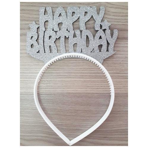 Gümüş Simli Happy Birthday Eva Taç