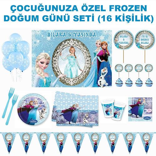 Frozen 16 Kişilik Doğum Günü Seti