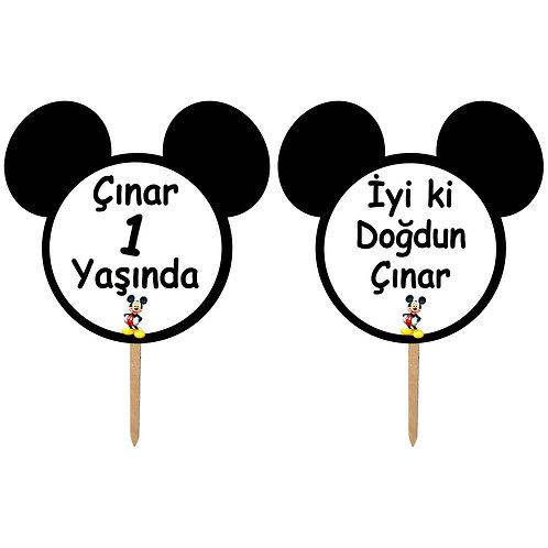 Micky Mouse Kişiye Özel Konuşma Balonu 2 Adet