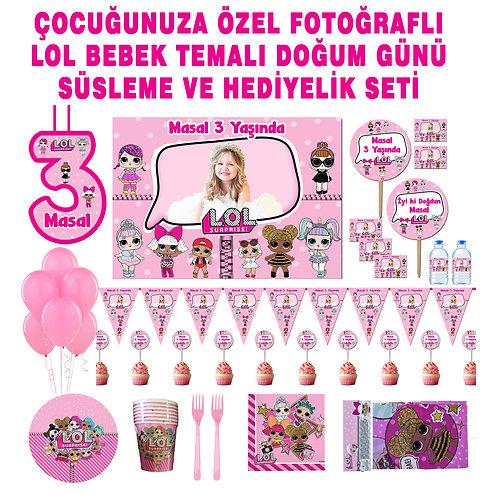 Lol Bebek 8 Kişilik Büyük Doğum Günü Parti Seti(16/24Seçenekli)
