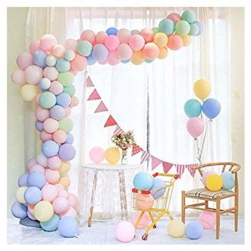 Karışık Renk Makaron Balon Zinciri 50'li