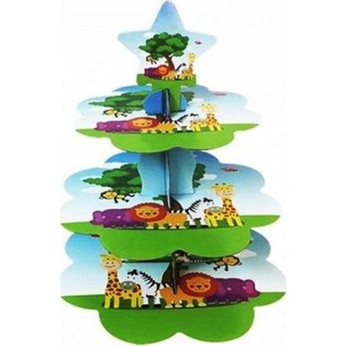 Safari Hayvanlar Kek Standı Cupcake Stand