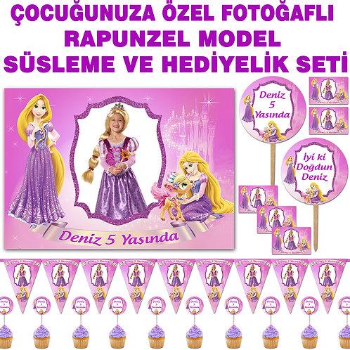 Rapunzel Doğum Günü Süsleme ve Hediyelik Seti