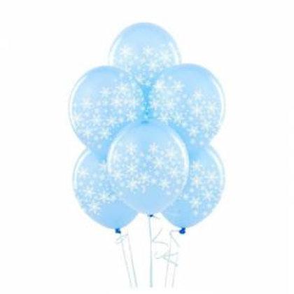 Kar Tanesi Baskılı Metalik Balon 10 Adet
