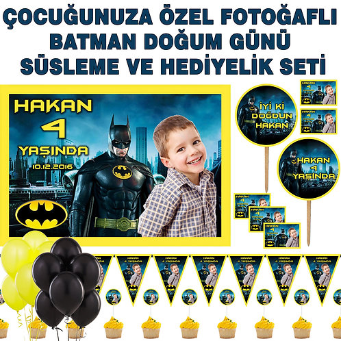 Batman Doğum Günü Balonlu Süsleme Seti