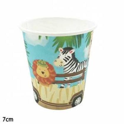 Safari Hayvanlar Karton Bardak 8 Adet