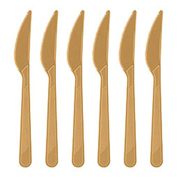 Altın Plastik Bıçak 25'li